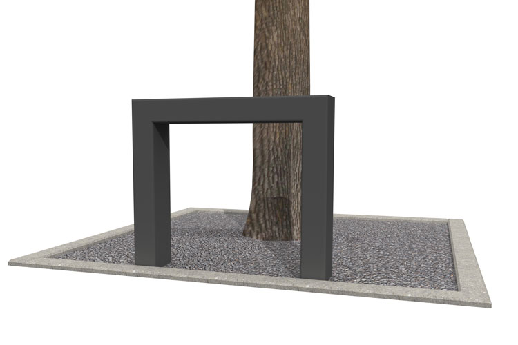 BUMP 50 tree trunk guard, boombeugel