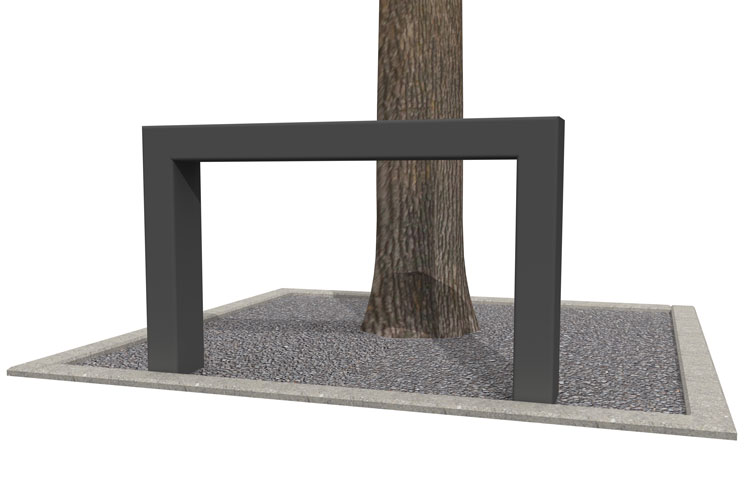 BUMP 70 tree trunk guard, boombeugel