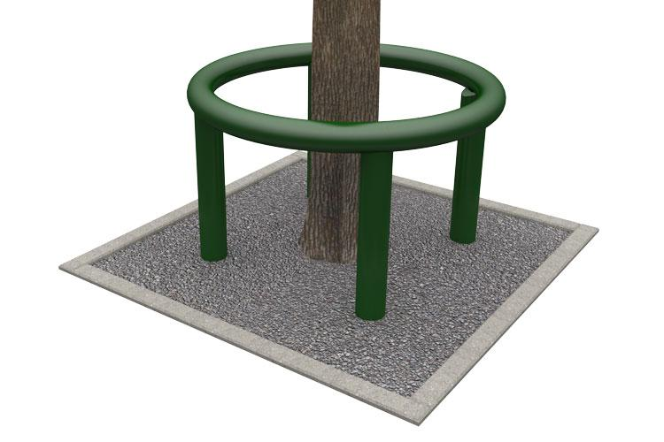 Tube 360-80, tree trunk guard, boomring